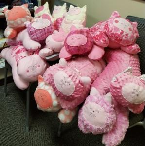 Stuffed kitties for 2018 Valentine fundraising event